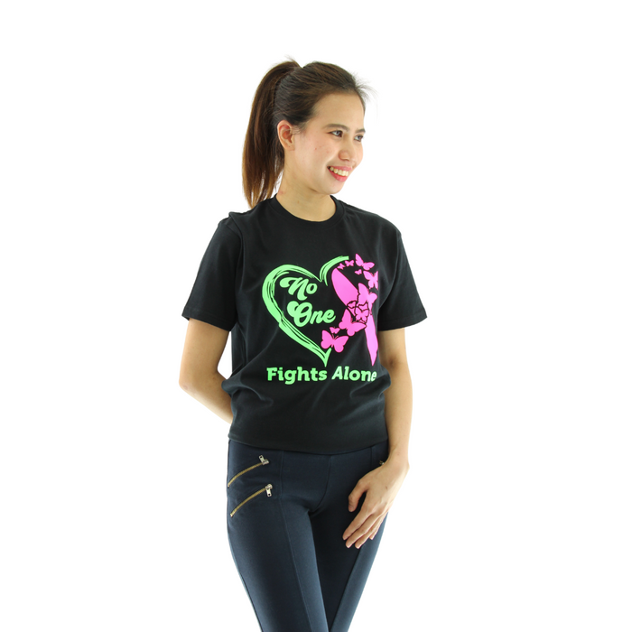 NO ONE FIGHTS ALONE MARIA INSPIRATIONAL T-SHIRT Unisex