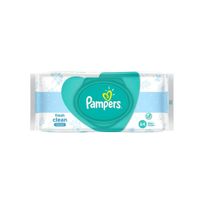 PAMPERS COMPLETE CLEAN BABY WIPES ALCOHOL FREE 64 tissues