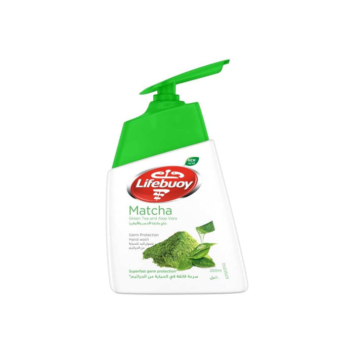 LIFEBUOY ANTIBACTERIAL MATCHA HAND WASH WITH GREEN TEA & ALOE VERA 200ml