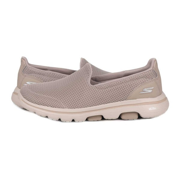 SKECHERS WOMEN GO WALK 5 SLIP ONS 15901-TPE - cliqoshop