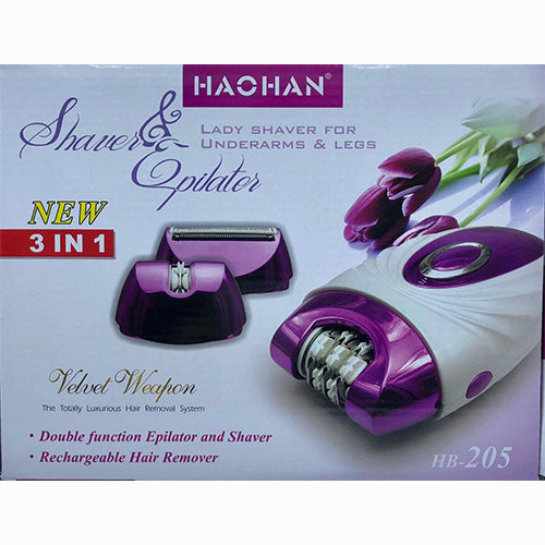 LADY SHAVER AND EPILATOR HB205