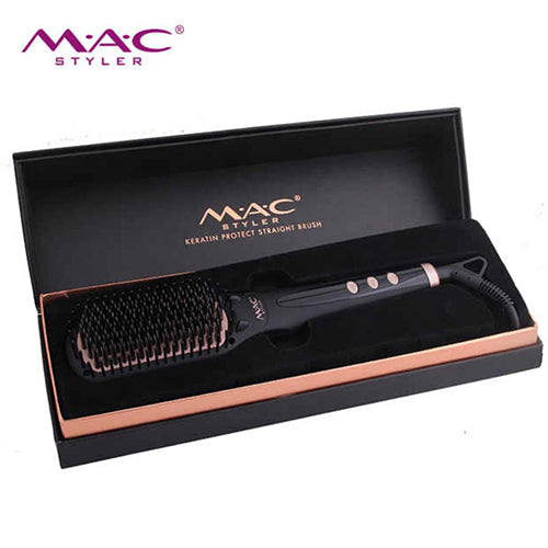 MAC STYLER NEWEST HAIR STRAIGHTENER ELECTRIC LCD DISPLAY STEAM COMB MC19