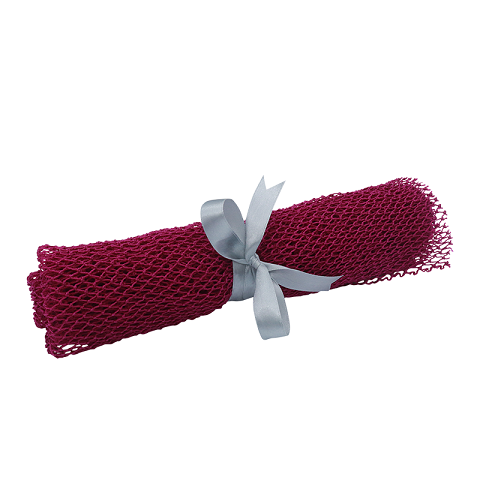 NET BODY SCRUBBER: RED
