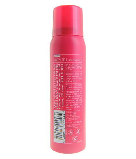 BENCH KISS AND TELL DEO BODY SPRAY 100ml - cliqoshop