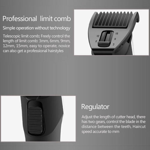 KEMEI RECHARGEABLE ELECTRIC HAIR CLIPPER KM7677