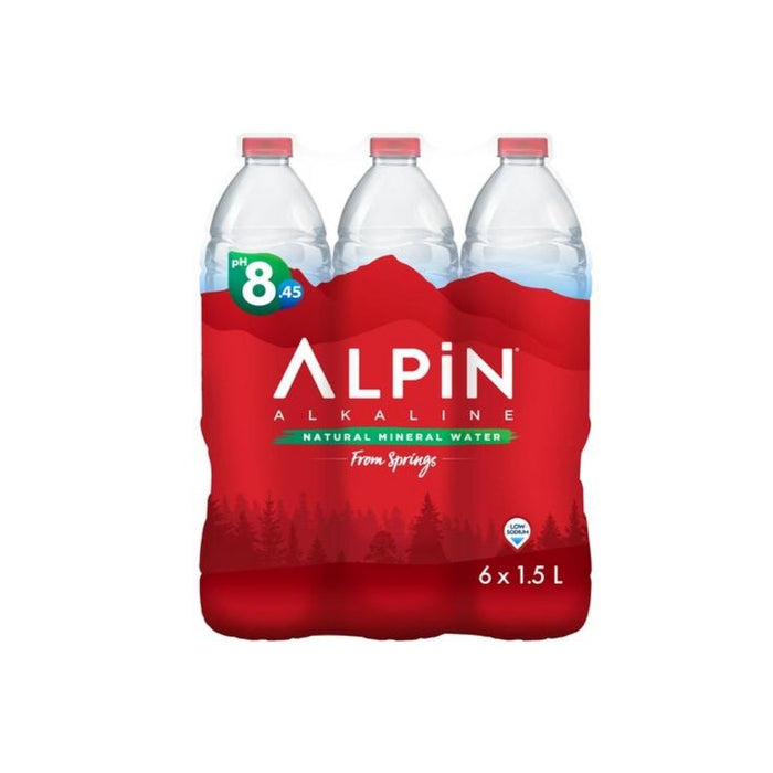 ALPIN NATURAL MINERAL WATER 6x1.5L LOW SODIUM
