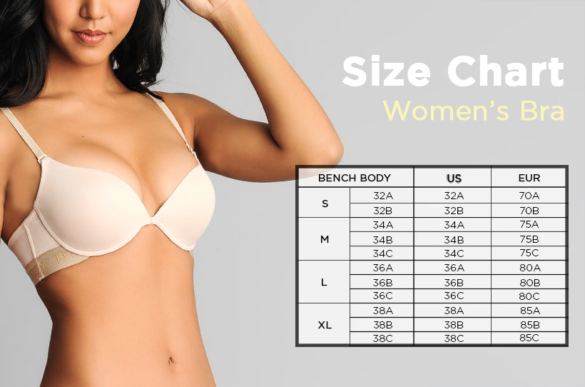 BENCH BODY PUSH-UP BRA - cliqoshop