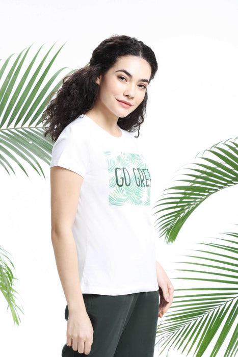 GO GREEN WOMENS T-SHIRT sustainme - cliqoshop