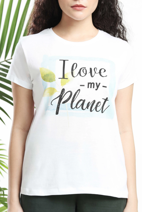 I LOVE MY PLANET WOMENS T-SHIRT sustainme - cliqoshop