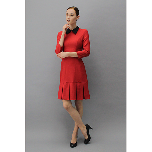 COLLAR DRESS RED