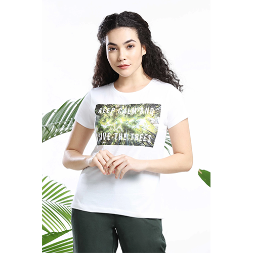 KEEP CALM AND SAVE THE TREES WOMENS T-SHIRT sustainme
