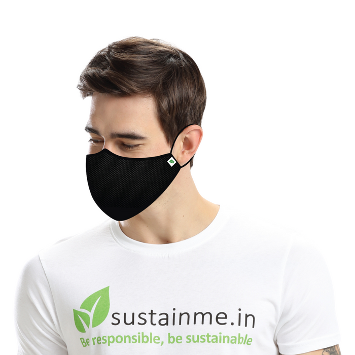 ADJUSTABLE CLOTH FACE MASK REUSABLE ANTI BACTERIAL ANTI POLLUTION SUSTAINME S95