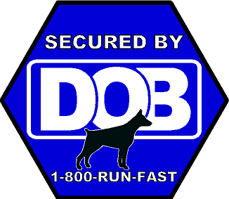 Secured By DOB Sticker