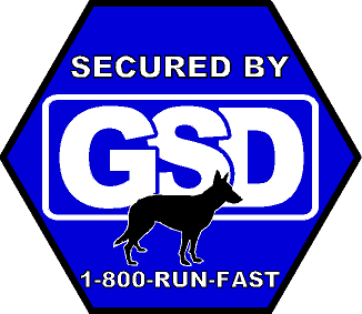 Secured By GSD Sticker