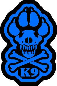 K9 Crossbone Sticker - Blue