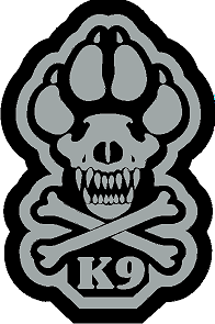 K9 Crossbone Sticker - Gray