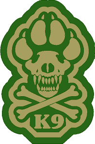 K9 Crossbone Sticker - OD