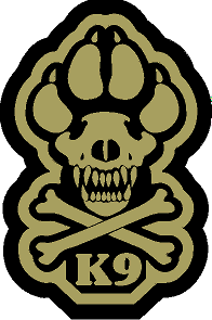 K9 Crossbone Sticker - Tan