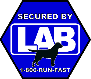 Secured By LAB Sticker