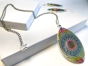 Rainbow Tribe Necklace set