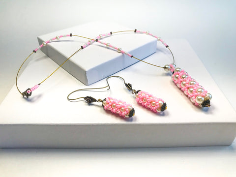 Pretty in Pink Necklace set