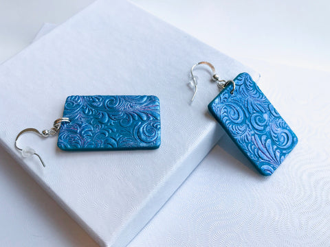 Turquoise Grass Earrings