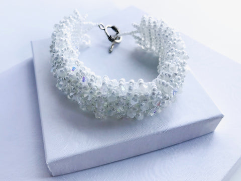 Elegant Bridal beaded Bracelet