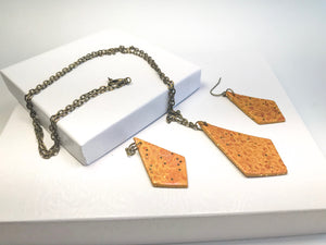 Rusty Gold Necklace set