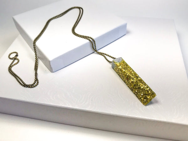 Glitter drops Pendant Necklace