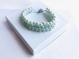 Regal Blue Beaded Bracelet