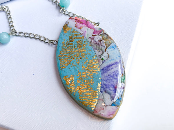 Watercolor Beads Necklace
