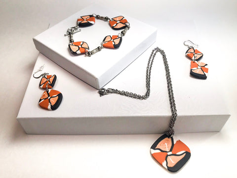 Terracotta Twirl Jewelry set