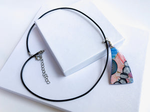 Abstract Watercolor Necklace
