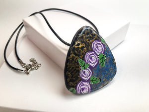Purple Rose Garden Pendant necklace