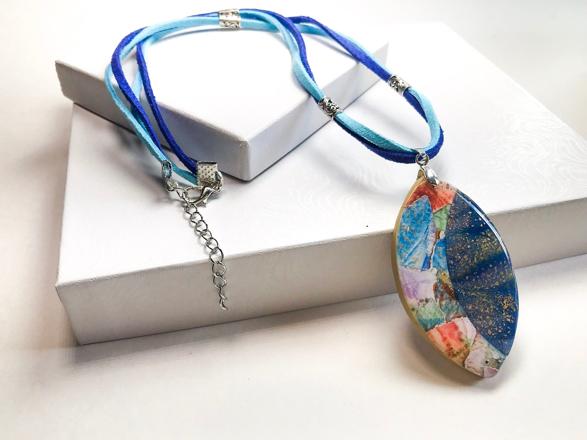 Watercolor Pendant Necklace