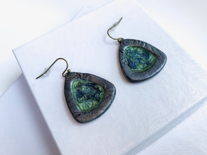 Liquid Green Earrings