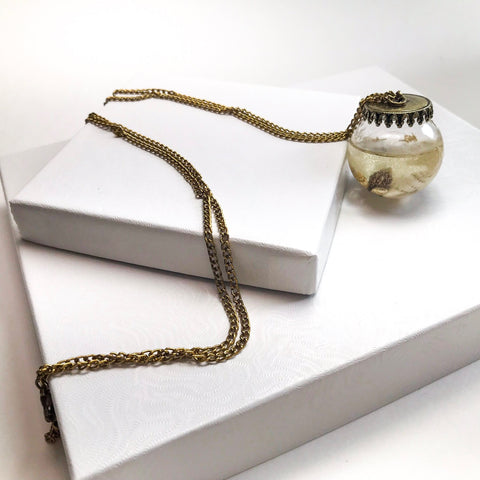 Shell Jar Pendant Necklace
