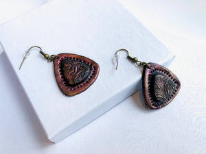 Aztec Triangle Earrings