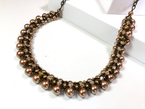Woven Elegance Statement Necklace