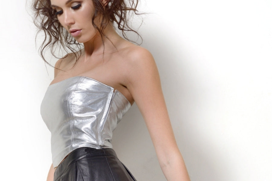 Leather Bustier - ethical leather