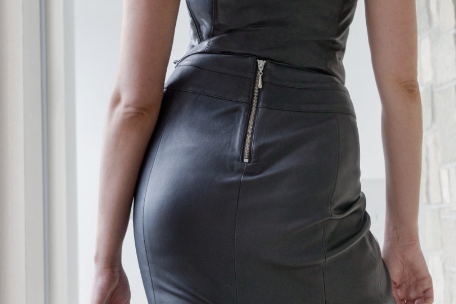 Leather skirt - ethical leather