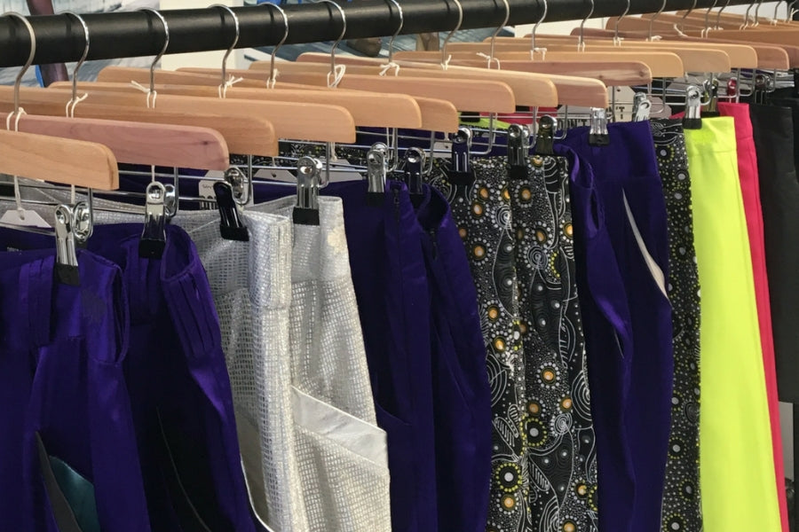 Clothing Samples on Rack