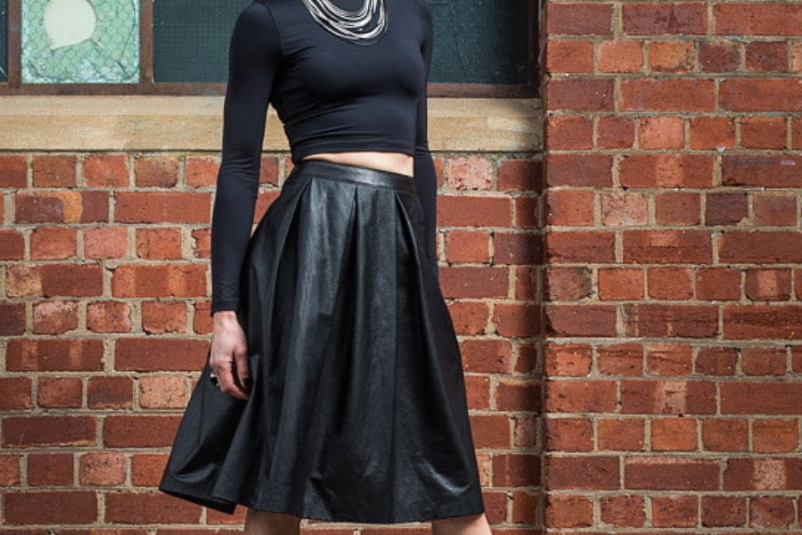 Leather skirt - Australian made