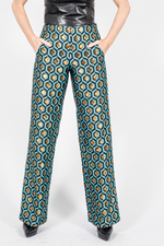Wide Leg Pants, Brocade