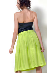 Lemon-Lime Silk Skirt