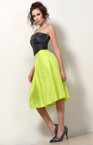 Silk Skirt, Lemon-Lime