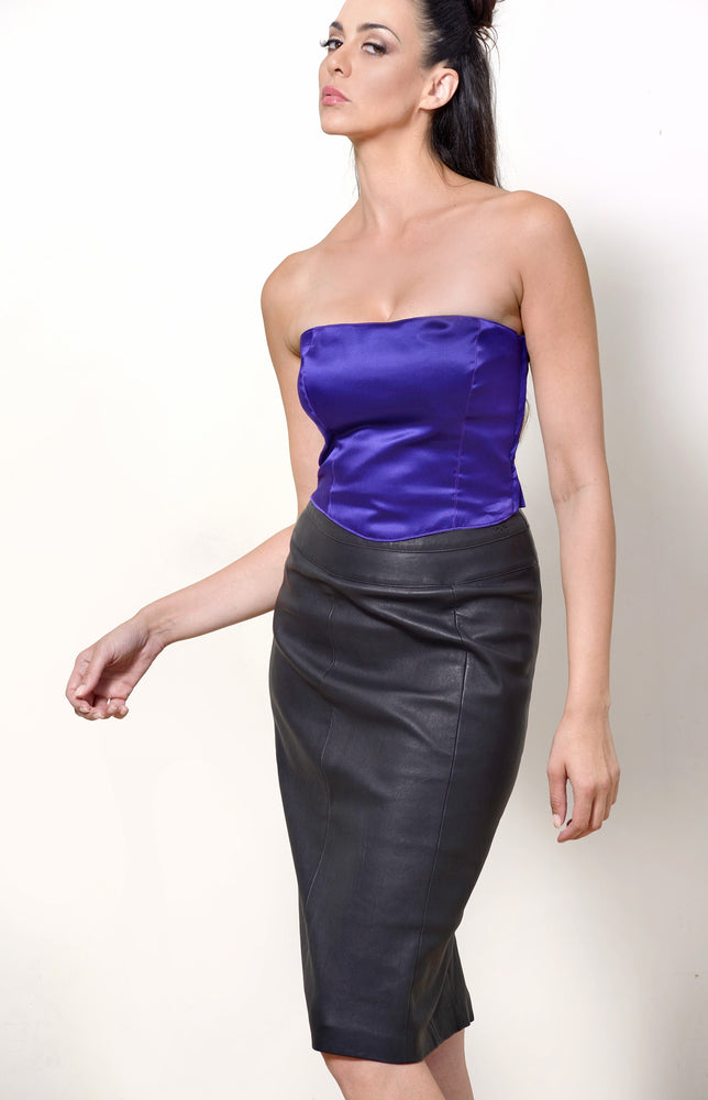 Bustier, Purple Silk