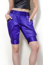 End Up Somewhere in Mexico - Purple Silk Shorts
