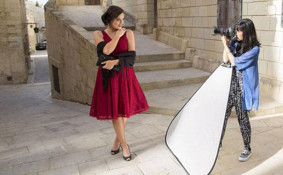 A photographer's purpose and guide to using a large translucent reflector