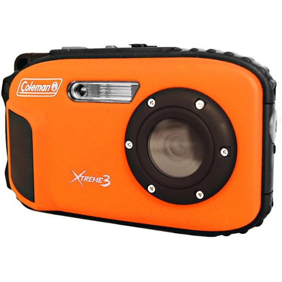 Coleman 20.0 Mp/Hd Waterproof Digital Camera-Orange